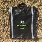 Black athletic bag with LIFE athletic eagle